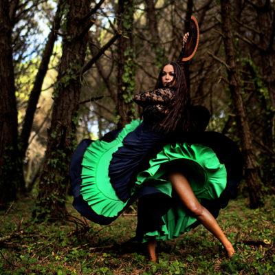 Flamenco Tanz im Wald