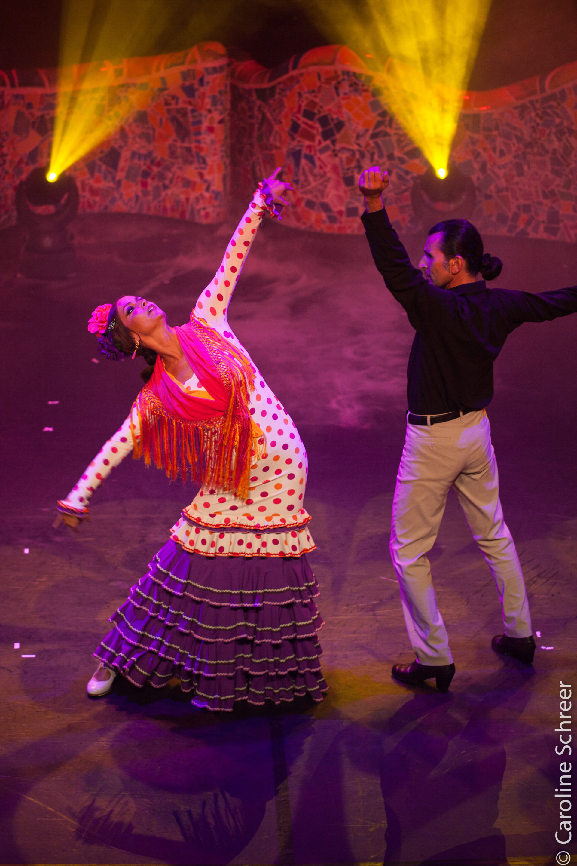 Flamenco Paartanz auf der Bühne
