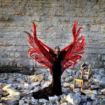 Rotes Flamenco-Tuch Mantón