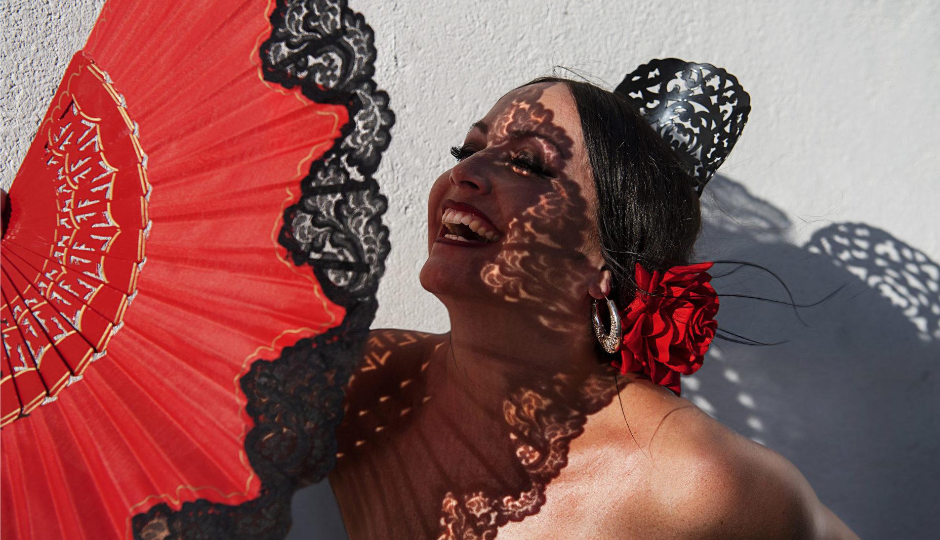 La Cati Flamenco mit Schatten