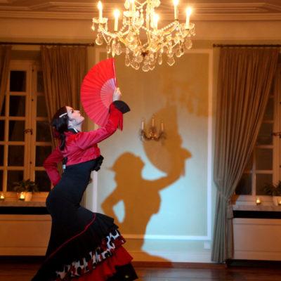 Flamencotanz unter Kronleuchter