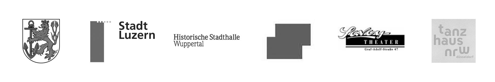 Stadt Düsseldorf, Stadt Luzern, Historische Stadthalle Wuppertal, Staatsgalerie Stuttgart, Savoy Theater, tanzhaus nrw