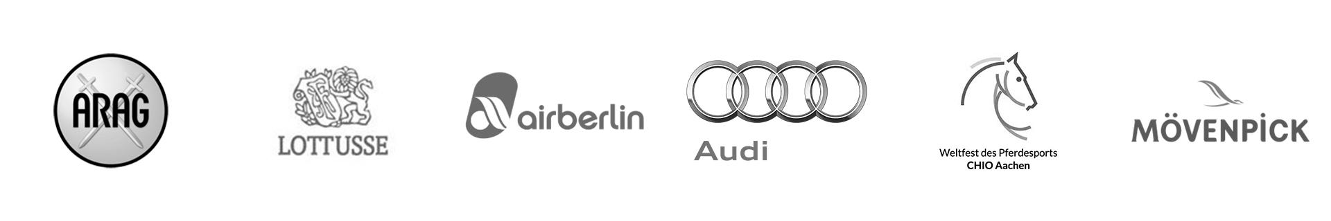 ARAG, LOTUSSE, air berlin, Audi, CHIO Aachen, Mövenpick
