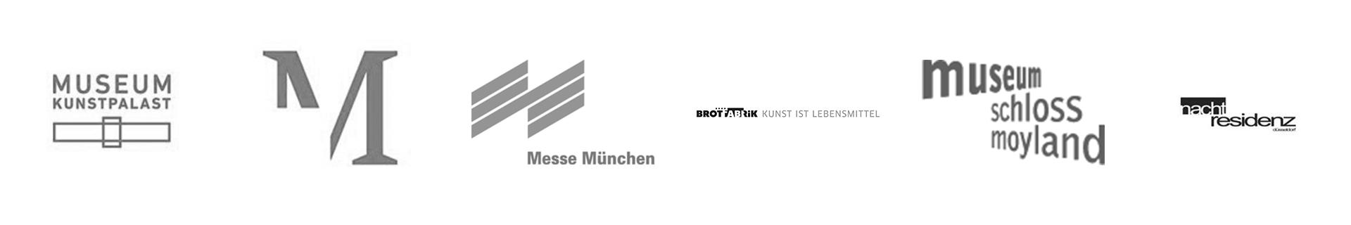 Museum Kunstpalast, Marta Herford, Messe München, Brotfabrik, Schloss Moyland, nachtresidenz